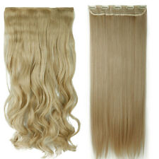 Double Thick 120-200g Full Head Weft Clip in Hair Extensions as human hair