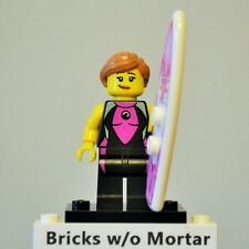 New Genuine LEGO Surfer Girl Minifig and Surfboard Series 4 8804