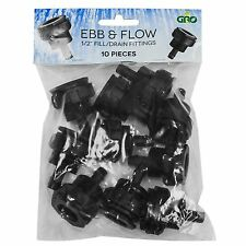 "10pc GRO1 1/2"" Fill/Drain Ebb/Flow BulkHead Fittings 10 Pack SAVE $ W/ BAY HYDRO"