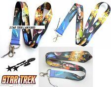 STAR TREK Lanyard Neck Strap Keychain ID Badge Holder Kirk Picard Spock Sisco