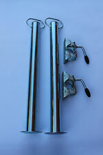2 x 48mm Prop Stand Supports with Clamps  600mm Long - Trailer