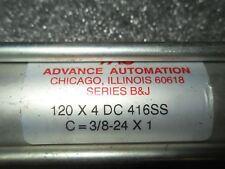 (V39) 1 Used Advance Automation 120X4Dc416Ss Pneumatic Cylinder