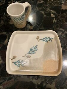 Stegall Signed NC Mountain Pottery—Plate And Mug. Burnsville NC