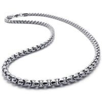 """2 mm 16""""-40"""" Silver Stainless Steel Square Rolo Necklace Chain Sb49 USA Seller"""