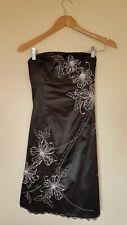 Black Patterned Party Dress Size 8 Jane Norman <CX3587