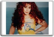 Cher V5 Autographed Preprint Signed Photo Fridge Magnet