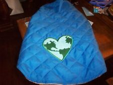 Dog Coat Peerless Pet Jacket S New with tags Blue w Green symbol