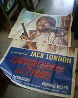 La ' Aventurero de 7 Mari Manifesto 4F Original 1974 Jack London