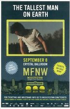 TALLEST MAN ON EARTH 2012 Gig POSTER Portland Oregon MFNW Musicfest NW Concert