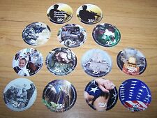 15th  Print  Set  25  Cent AAFES  Pogs 2011 printing   All 13 pogs About Uncir.