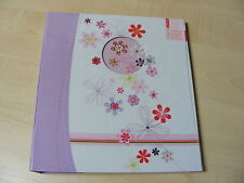 Flower & Gem Photo Album 104 Photos 5x7 7x5 Inch 2 photos per side + Memo Space
