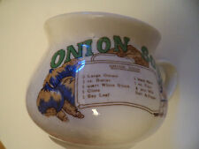 Retro Ceramic Soup Mug Onion Soup  Recipe Bowl
