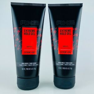 2-Pack Axe Extreme Hold Gel Styling Hair Gel Extreme Look 6 oz Each High Hold