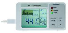 CO2 AIRCONTROL 5000 DATENLOGGER MONITOR RAUMKLIMA-ÜBERWACHUNG AMPELANZEIGE PPM