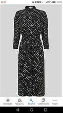 Whistles Selma Black And White Abstract Spot Midi Dress Size 16