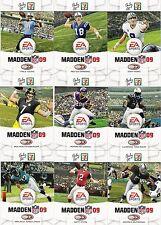 COMPLETE SET OF 10 DONRUSS 2008 FOOTBALL CARDS - MADDEN NFL 09 - ROETHLISBERGER!
