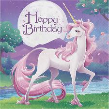 16 Unicorn Napkins Unicorn Party Tableware Girls Magical Fantasy Birthday Party
