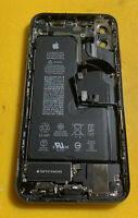 Original Apple iPhone XS Black Housing Frame Back Cover OEM Small Parts 100% Bat