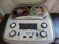 Vintage Magnavox Reel-to-Reel Stereo Tube Tape Recorder / Player Model TR100M