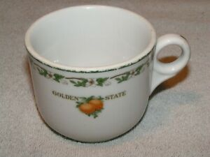 CRI&P Railroad China Coffee Cup in the Golden State Pattern