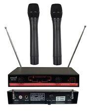 Staraudio Dual Channel Vhf Handheld Wireless Microphone System 2Ch Dj Church Mic