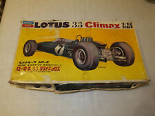 Bandai 1/12th Lotus 33 Formula 1 Car model kit incomplete and started.