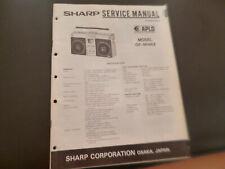 Original Service Manual Schaltplan  Sharp GF-9696Z