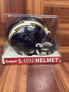 Junior Seau autographed Riddell mini helmet