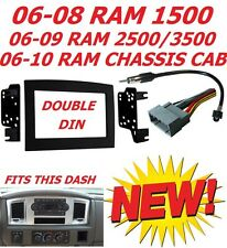 06 07 08 09 10 DODGE RAM CAR STEREO RADIO DOUBLE DIN INSTALLATION DASH KIT PANEL