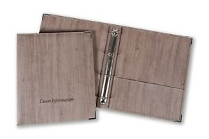 Deluxe Guest Room Information Folder A4 PU Faux Wood Hotel House Air B&B