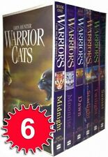 Erin Hunter Warrior Cats 6 Books Collection Boxed Set (Midnight, Twilight, etc)