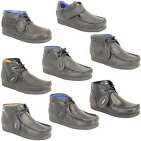 Boys School Shoes Deakins Kids Leather Boots Youth Lace Up Formal Wedding Smart