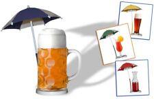 Bierschirmchen / Cocktailschirm / Eisschirmchen / Getränkeschirm - gelb !! WM -S