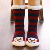 Bed Socks Women Soft Fleece Lined Sock Fluffy Fur Slipper Winter Warm 22020 H&