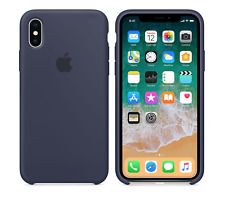 MITTERNACHTSBLAU 100% GENUINE OFFICIAL Apple Silicone Case iPhone X RETAIL