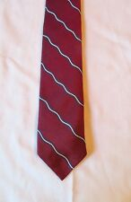 Men's Brooks Brothers 100% Silk Neck Tie Makers & Merchants Burgundy Blue White