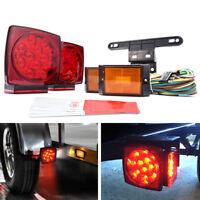 12V LED Submersible Trailer Light w/ License light kit for Towing Applications