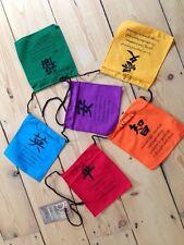 BEAUTIFUL CHAKRA AFFIRMATION FLAGS, FAIR TRADE, MEDITATION, ETHNIC