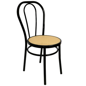 RATTAN THONET CHAIR BLACK METAL VINTAGE SEAT WICKER PLASTIC DINING CHAIR FEATURE