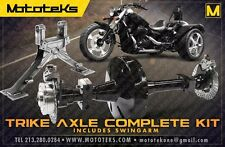 HARLEY TRIKE AXLE CONVERSION KIT + SWINGARM FITS HARLEY DYNA MODELS 2006-PRESENT
