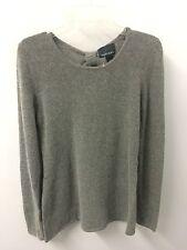 Cynthia Rowley M Gray Cashmere Fel Angora Wool Long Sleeve Sweater Euc Lkn