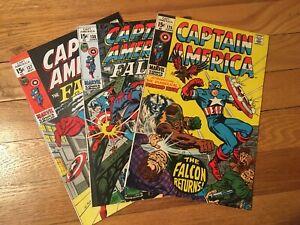 MARVEL COMICS CAPTAIN AMERICA 126 * 137 * 138 ALL VG+ 1970/71 COLAN & ROMITA ART