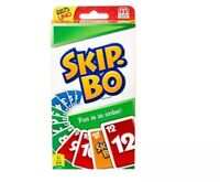 MATTEL SKIP-BO CARD GAME - 2 TO 6 PLAYERS SHIP FROM USA NEW NEW