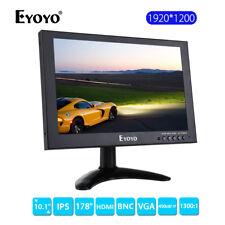 "EYOYO 10"" IPS HD 1920x1200 Video Audio HDMI Monitor for CCTV DVD PC 16:10 1300:1"