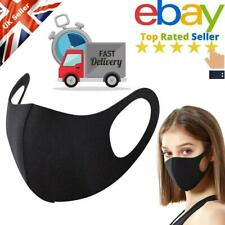 Face Mask Washable UK Reusable Masks Protection Shield Cover - Black/Pink