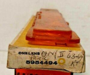 NOS PARKING LAMP LENS 1963 1964 CHEVY II NOVA 5954494 GUIDE 1Z SAE DP62 RIGHT
