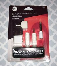 """Headphone Adapter Kit Airplane & Stereo 1/4"""" Adapter Splitter Extension Cable 4p"""