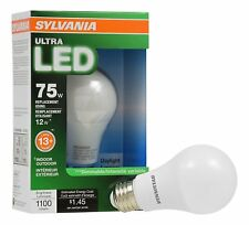 Sylvania Ultra LED Light bulb A19 75W Equivalent uses 12W ONLY/Dimmable/Daylight