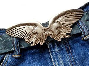 Gürtelschnalle Engelsflügel Engel Angel Flügel Wechselgürtelschnalle silber 4cm
