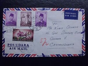 Indonesia 1958 Airmail full cover to Czechoslovakia, used, #GPM#